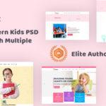 Modern Kids PSD Template - Kidssc