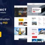 Industrial Construction & Manufacturing PSD Template - Kingfact