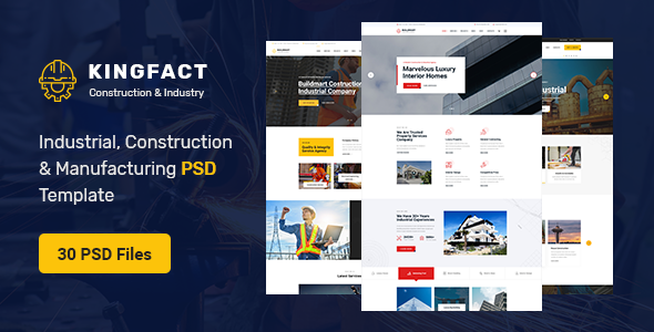 Kingfact - Industrial Construction & Manufacturing PSD Template
