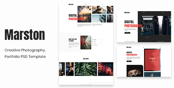 Marston - Creative Photography, Portfolio PSD Template