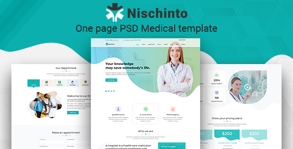 Nischinto - One page PSD Medical template