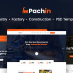 Industry & Factory Business PSD Template - Pachin