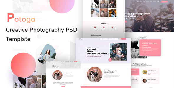 Ptoga - Photography PSD Template