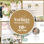 Wedding Event PSD Template - Swingy