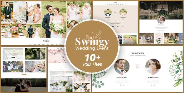 Swingy - Wedding Event PSD Template