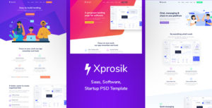 Xprosik - Landing Page for Saas & Software
