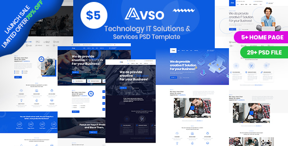 Abso - Technology IT Solutions & Services PSD Template