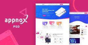Appnox - Product Landing PSD Template
