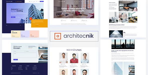 Architecnik - Modern Architecture & Interior Design Agency PSD Template