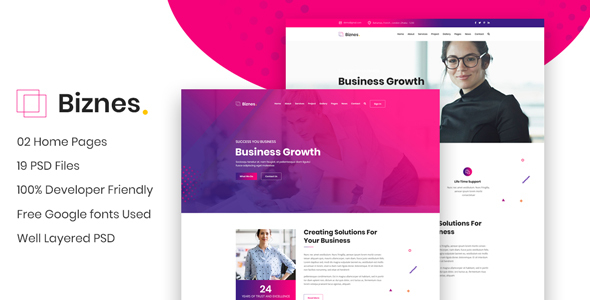 Biznes - Business Website PSD Template