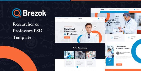 Brezok - Researcher & Professors PSD Template
