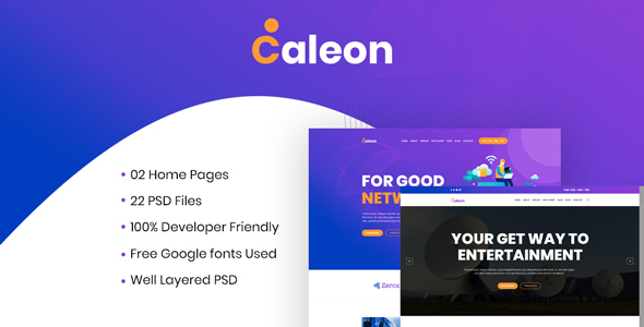 Caleon - Cable TV & ISP Business PSD Template