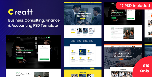 Creatt - Consulting PSD Template