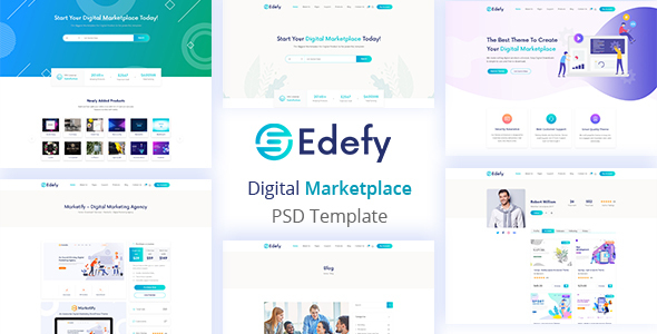 Edefy - Digital Marketplace PSD Template
