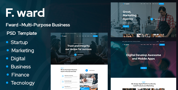 Fward -Multi-Purpose Business PSD Template