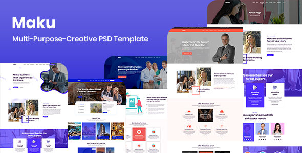 Maku - Multi-Purpose-Creative PSD Template