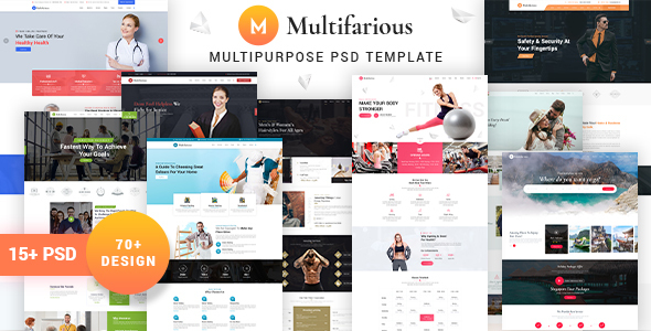 Multifarious - Service PSD Templates