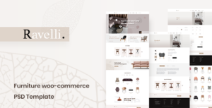Ravelli- Furniture WooCommerce PSD Template