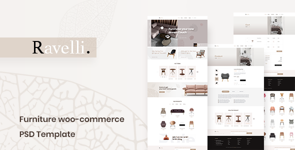 Ravelli- Furniture WooCommerce PSD Template