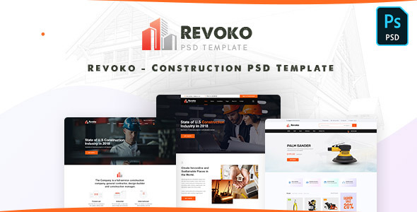Revoko - Construction PSD Template