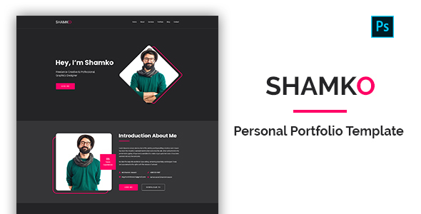 Shamko - Personal Portfolio PSD Template