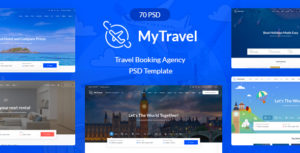 Travel Booking Agency PSD Template