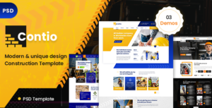 Contio  - Construction PSD Template