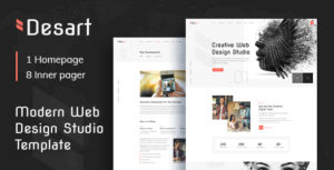 Desart - Creative Web Design Studio PSD Template