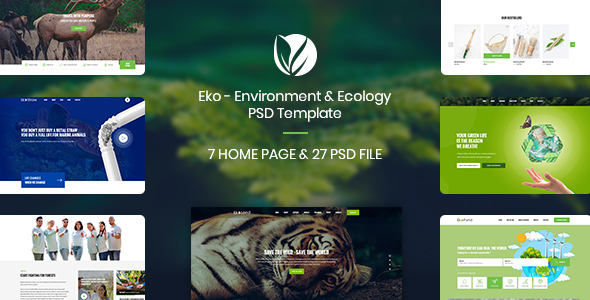 Eko - Environment & Ecology PSD Template