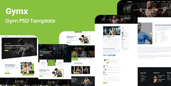 Gymx- Gym PSD Template