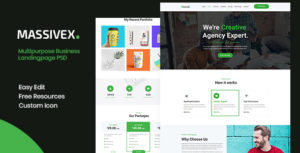 Massivex - Multipurpose Business Landing Page PSD
