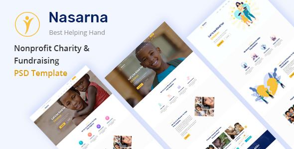 Nasarna – NonProfit Charity PSD Template
