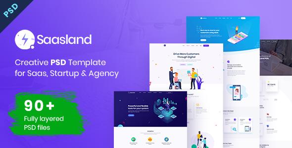 Saasland   MultiPurpose PSD Template for Startup & Agency