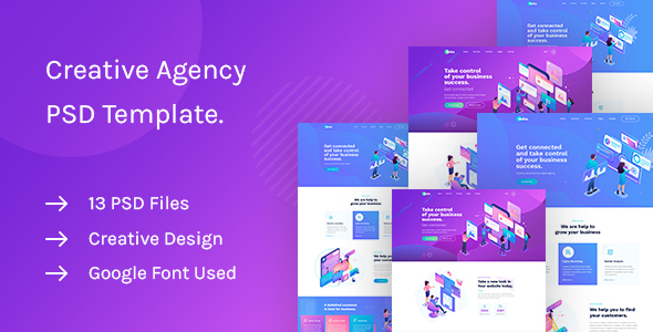 Saku - Agency And Business PSD Template