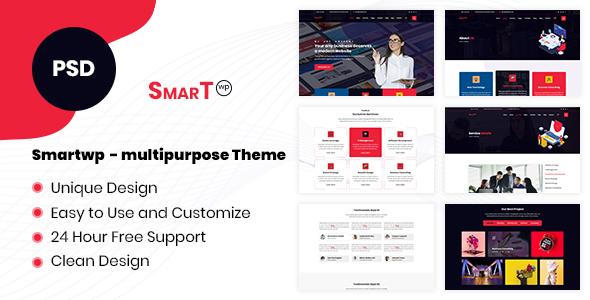 SmartWP - Multipurpose PSD Template