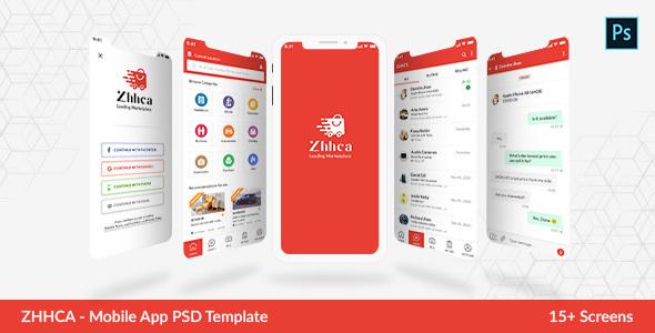 ZHHCA - Online Marketplace Mobile App PSD