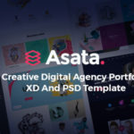 Creative Digital Agency Portfolio XD & PSD Template - Asata