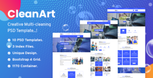 Cleanart - Housekeeping, Washing & Cleaning Company PSD Template