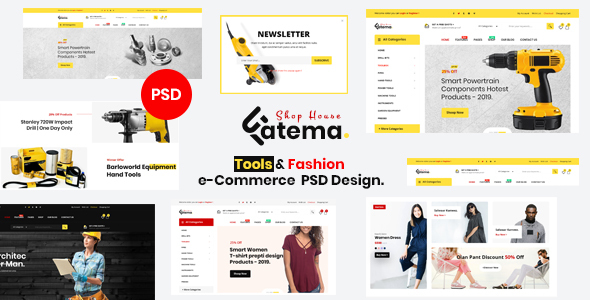 Fatema - Multipurpose e-Commerce PSD Template