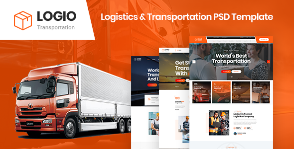 Logio - Logistics & Transportation PSD Template