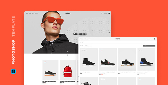 Meesto – eCommerce Template for Photoshop