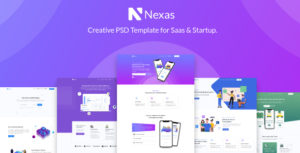 Nexas - Startups SaaS PSD Template