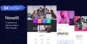 Nexelit - It Solution & Startup Business PSD Template
