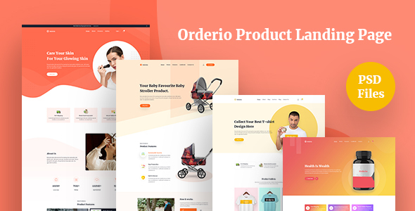 Orderio - Single Product Landing page