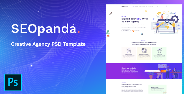 SEOPANDA - Creative Agency PSD Template