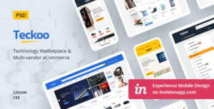 Teckoo - Electronic & Technology Marketplace eCommerce PSD Template