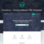 Charity Website PSD Template - Donative