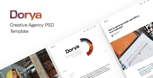 Dorya | Creative Agency PSD Template