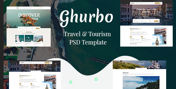 Ghurbo -  Travel & Tourism PSD Template