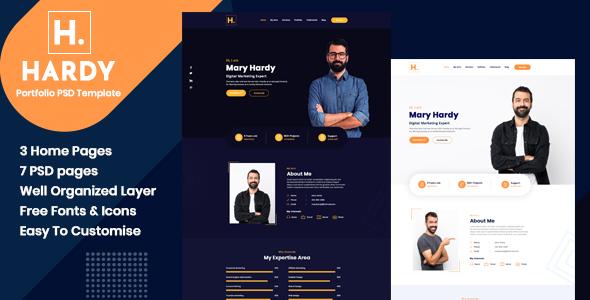 Hardy - Personal Portfolio PSD Template